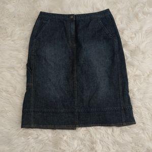 J. Jill Denim Midi Jean Skirt w/ Cargo Pocket 10